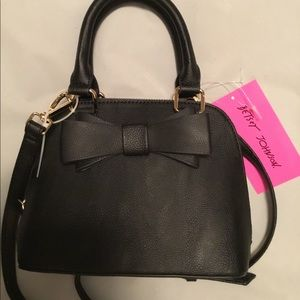 Betsy Johnson Black purse with Bow NWT.